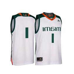 Miami Hurricanes NCAA Adidas Men's March Madness White #1 Ba