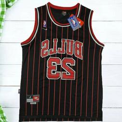 Michael Jordan #23 Chicago Bulls Basketball Jersey-Striped B