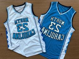 MICHAEL JORDAN 23 White North Carolina Tar Heels Throwback B