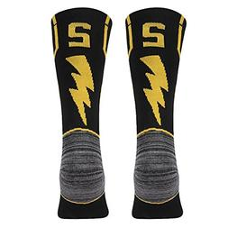 KitNSox Mid Calf Basketball ID Socks, Mens Womens Breathable