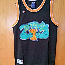 Monstars #0 Space Jam Basketball Jersey Black Michael Jordan