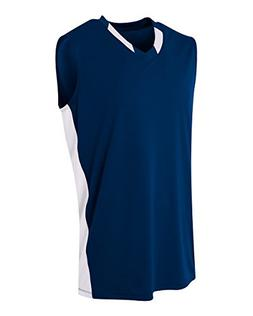 A4 Sportswear Navy/White Youth XS  2-Color Neck/Side Panel U