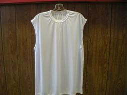 New Adult Small A4 Sleeveless Jersey in  White