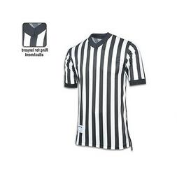 New Champro Basketball Referee Official Dri-Gear Black White
