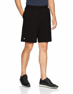 NEW Champion Men's Jersey Short With Pockets Black XL Logo 9