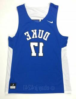 New Nike Men's L Duke University Blue Devils Reversible Bask