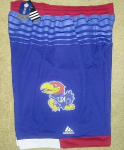 NEW Mens 2XL ADIDAS Kansas Jayhawks NCAA Basketball Jersey S
