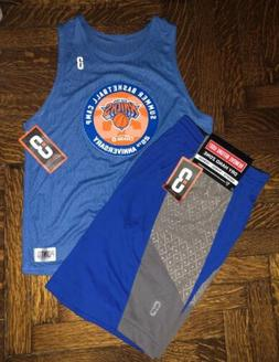 NEW! POINT 3 MENS NY KNICKS BASKETBALL SHORTS AND JERSEY UNI