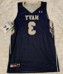 New Under Armour Navy Midshipmen Armourfuse Basketball Jerse