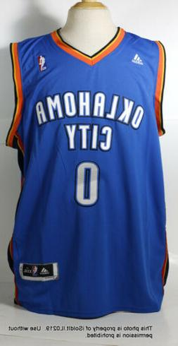 NEW Nike OKLAHOMA CITY THUNDER BASKETBALL JERSEY Russell Wes