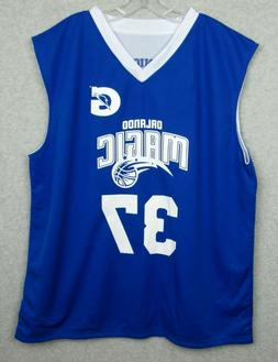 New Orlando Magic Number 37 2XL XXL Reversal Basketball Jers