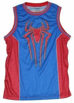 New The Amazing Spider-Man Marvel Mens 62 Tank Top Basketbal