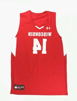 Under Armour Wisconsin Badgers Fury Basketball Jersey #14 Me