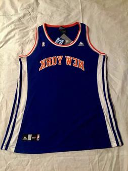 New York Knicks adidas Blue Orange Away Basketball Screen Pr
