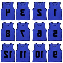 TopTie Numbered Scrimmage Team Practice Mesh Jerseys Vests P
