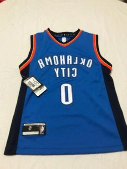 NWT Boys Youth Russell Westbrook Oklahoma City Adidas Small