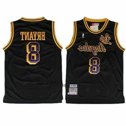 NWT Kobe Bryant #8 Los Angeles Lakers Classic Stitched Baske