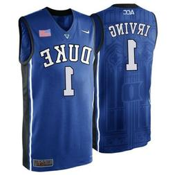 NWT Kyrie Irving Duke Blue Devils #1 Adult Stitched Basketba