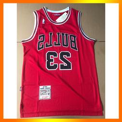 Michael Jordan #23 Chicago Bulls Red Stitched Retro Basketba