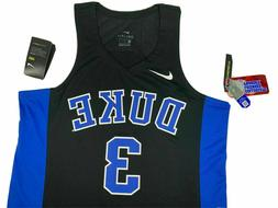 NWT SIZES S M L XL 2XL MEN Nike Elite Duke Blue Devils Black