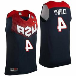 NWT Stephen Curry #4 Team USA Stitched Basketball Jersey - N