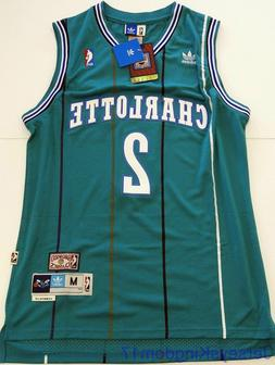 NWT Throwback Basketball Jersey LARRY JOHNSON 2 Charlotte Ho