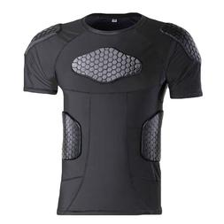 Outdoor Sports Honeycomb Compression Shirt Anti-Collision Sh