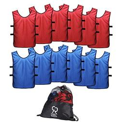 SportsRepublik Pinnies Scrimmage Vests for Kids, Youth and A