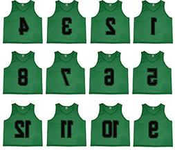 Oso Athletics Set of 12 Premium Polyester Mesh Numbered Jers