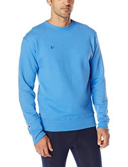 Champion Men's Powerblend Pullover Sweatshirt, Windchill Blu