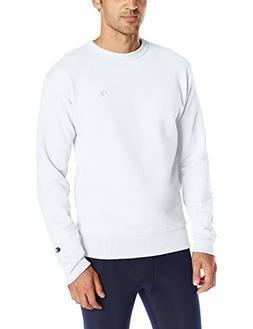 Champion Men's Powerblend Sweats Pullover Crew White S