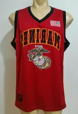 Rapiddominance Marines Basketball Jersey, Red, Large