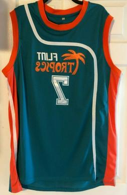 Semi-Pro Coffee Black # 7 Flint Tropics Stitched Basketball