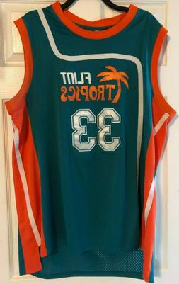 Semi-Pro Jackie Moon # 33 Flint Tropics Stitched Basketball