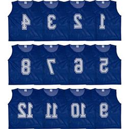 Athllete Set of 12- Scrimmage Vest/Pinnies / Team Practice J