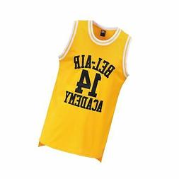 MOLPE Smith #14 Bel Air Academy Yellow Basketball Jersey S-X