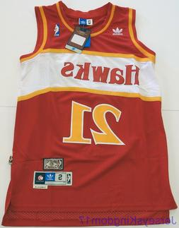 Swingman Basketball Jersey DOMINIQUE WILKINS 21 Atlanta Hawk