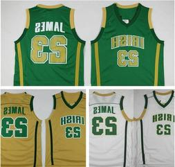 Throwback Men's LeBron James #23 High School Basketball Jers