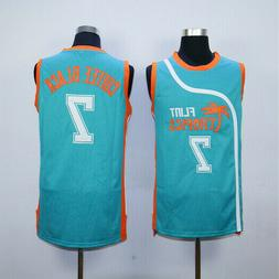 USA Basketball Jersey Semi Pro Coffee Black 7# Flint Tropics