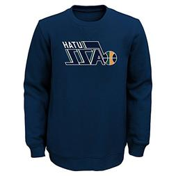 "NBA Utah Jazz Youth Boys ""Prime"" Pullover Fleece Crew, Mediu"