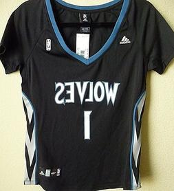 Women's Adidas NBA Minnesota Wolves Basketball Tyus Jones #1