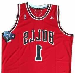 XXL CHICAGO BULLS #1 Rose NBA Basketball adidas Swingman Jer