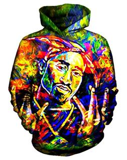 9Yourtime Your Love Painting Tupac 2Pac Print Hoodie Cool St