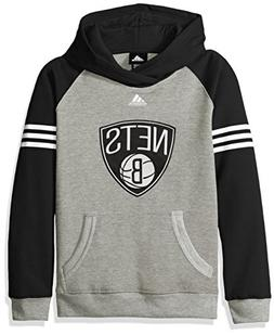 NBA Youth 8-20 Brooklyn Nets Robust Pullover Hoodie-Heather