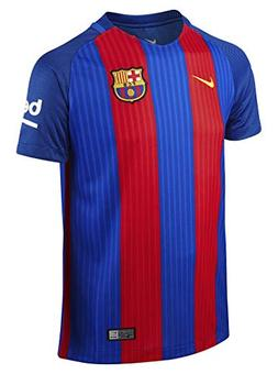 NIKE Kids Barcelona 2016/2017 Home Soccer Jersey  Youth Larg