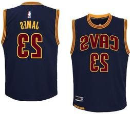 youth lebron james cleveland cavaliers navy replica