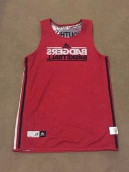 Adidas Youth Wisconson Badgers Red/Camo Basketball Jersey Sz